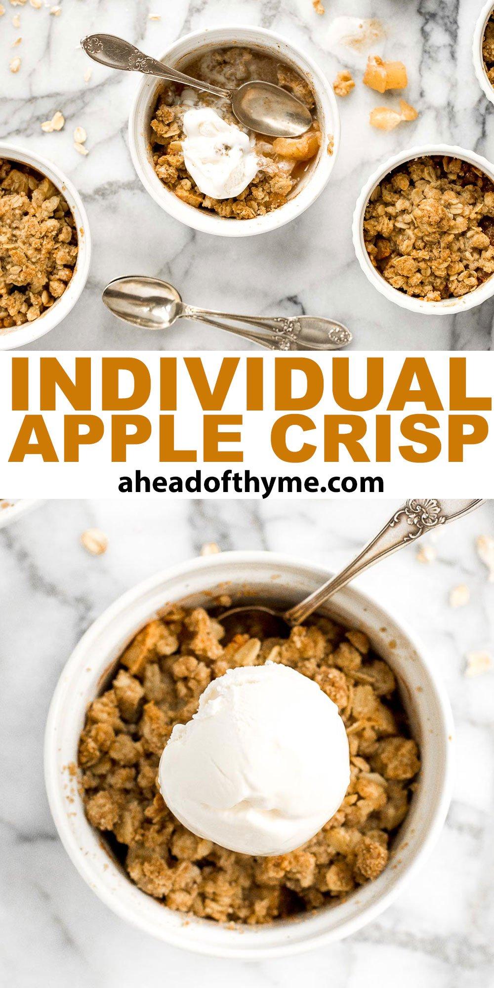 Individual Apple Crisp