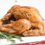 Make Thanksgiving easier with the best and juiciest roast turkey ever! It cooks faster and requires NO brining! | aheadofthyme.com