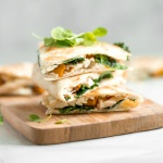 Butternut Squash Quesadillas with Kale and Chicken
