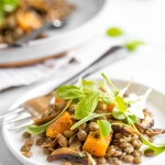 Warm Lentil Salad with Butternut Squash and Shiitake Mushrooms