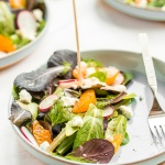 Goat Cheese and Tangelo Winter Salad with Creamy Dressing