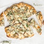 Mushroom and spinach flatbread is heaven on a place. It is ready in under 30 minutes, making it a life-saver game day meal or weeknight dinner! | aheadofthyme.com