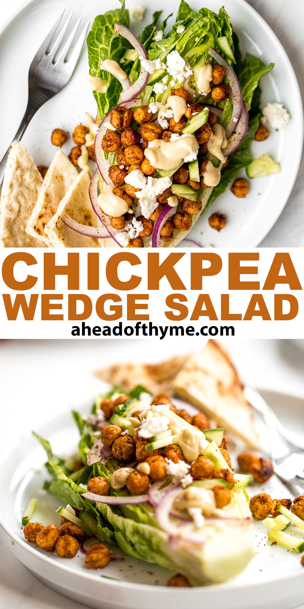 Mediterranean Chickpea Wedge Salad