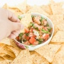 Got less than 5 minutes to spare? Well, that's all the time you need to make the perfect, easy 5-ingredient salsa for your next summer fiesta. | aheadofthyme.com