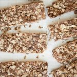 Almond butter granola bars are the perfect handheld snack for back to school or work lunches. They are healthy, gluten-free, and have no refined sugar. | aheadofthyme.com