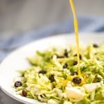 Brussels Sprouts Salad with Warm Lemon Anchovy Vinaigrette