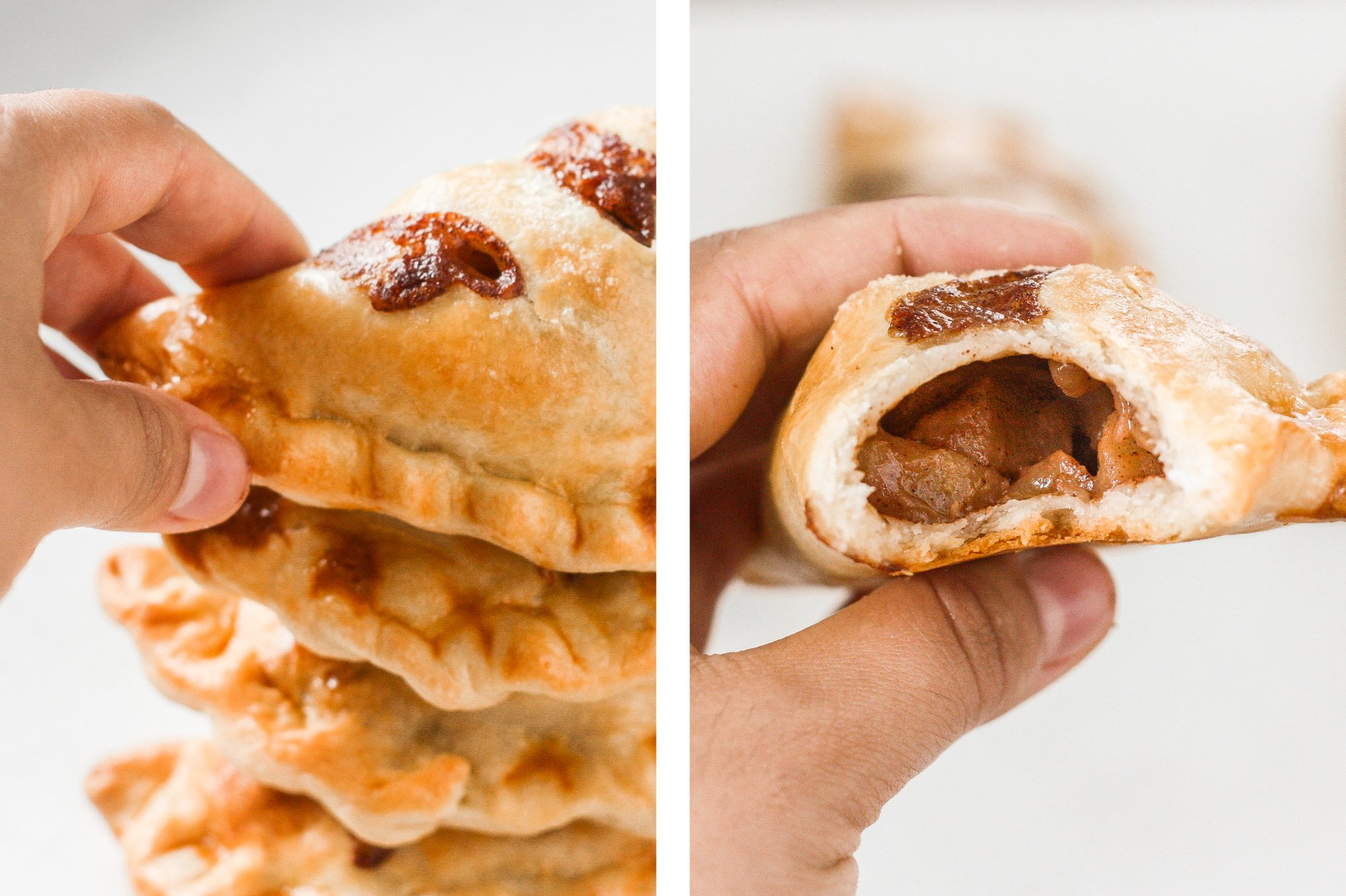 Easy homemade apple hand pies are the perfect fall treat -- stuffed with tender apples and cinnamon and wrapped in crispy, flakey, buttery crust. | aheadofthyme.com