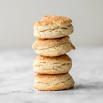 Flaky, fluffy, buttery, and soft, these easy homemade biscuits come together with only a handful of ingredients you already have at home! | aheadofthyme.com