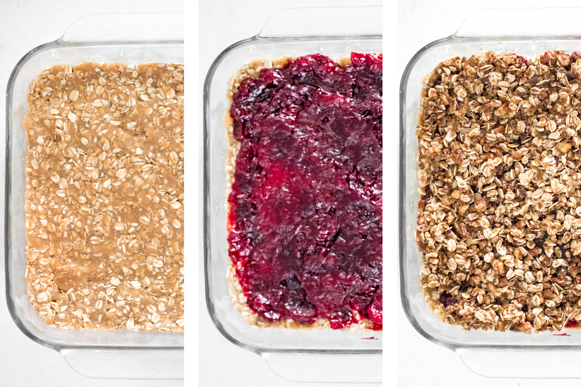 Got some leftover cranberry sauce from your holiday dinner? Revive them into delicious leftover cranberry sauce oat bars, perfect for breakfast or dessert! | aheadofthyme.com