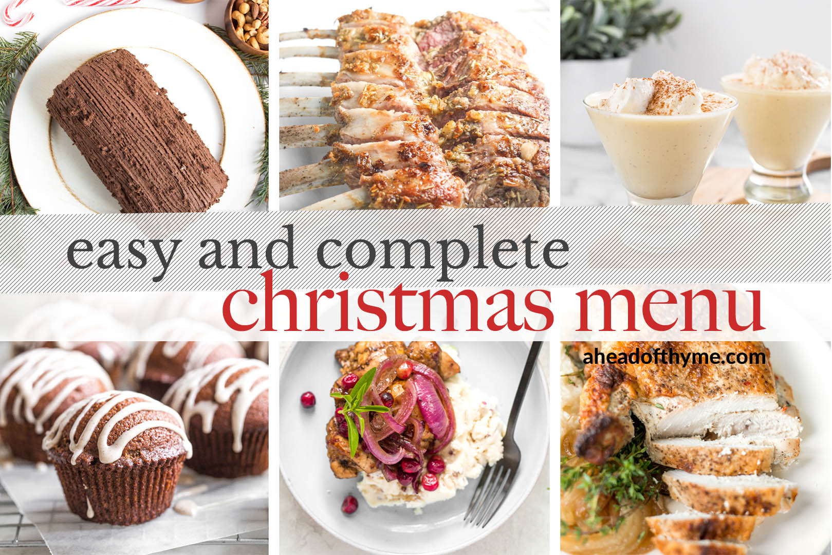 No more stressing over your holiday dinner or brunch -- find the perfect, easy and complete Christmas menu and recipes for the whole day all in one place!
