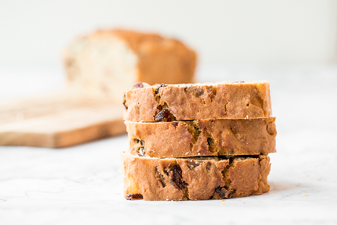 Perfect for the holidays, this super moist and tender, festive yogurt fruitcake is loaded with dried fruits and nuts for a burst of flavour in every bite.   aheadofthyme.com