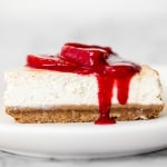 Any level baker can make a beautiful, decadent, thick and fluffy, classic New York cheesecake without any cracks using this easy to follow recipe. | aheadofthyme.com