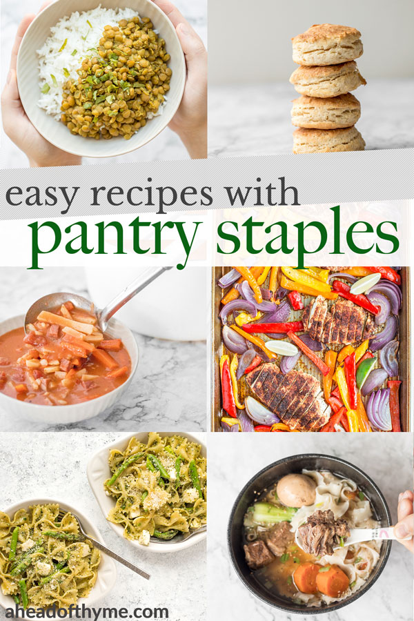 Easy Pantry Staple Recipes