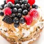 Healthy Banana Smash Cake with Coconut Cream Frosting