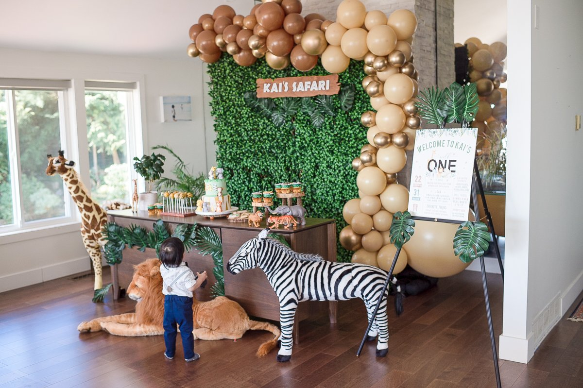Wild One Birthday First Birthday Baby Shower Balloon Zoo Animals Lion Balloon Jungle Party Safari Baby Shower