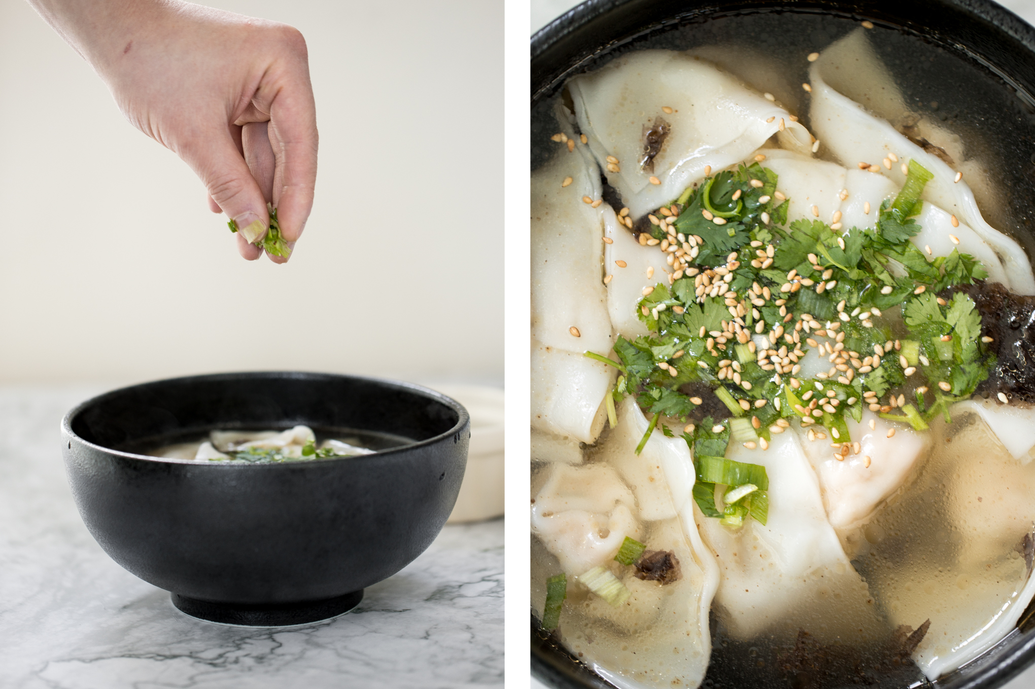 10minute shanghai style wonton soup for one