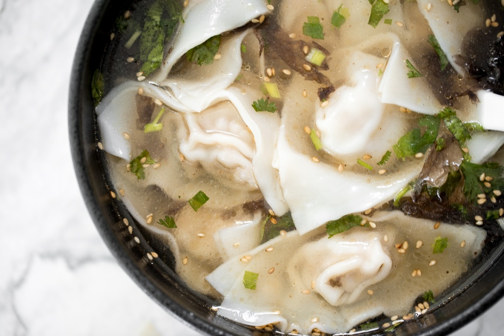 This easy, better than takeout, 10-minute Shanghai style wonton soup is the perfect soup to make for one person and is packed with classic Asian flavours. | aheadofthyme.com