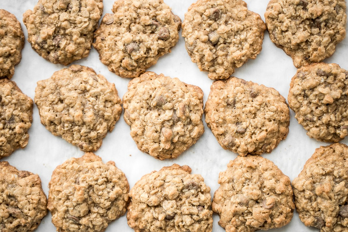 The Best Chewy Chocolate Chip Oatmeal Cookies Ahead Of Thyme