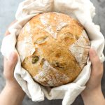 Artisan Green Olive Sourdough Bread