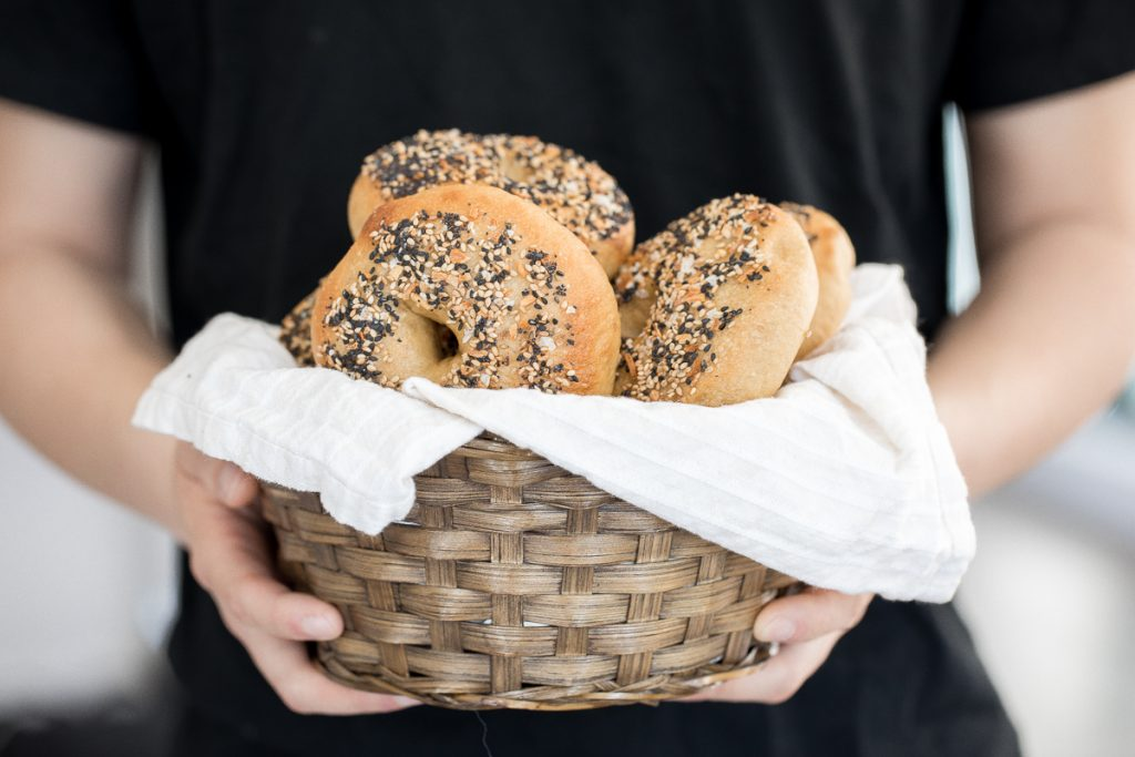 Easy homemade everything bagels with a signature everything bagel seasoning blend on top are just like bakery-style bagels and so easy to make at home. | aheadofthyme.com