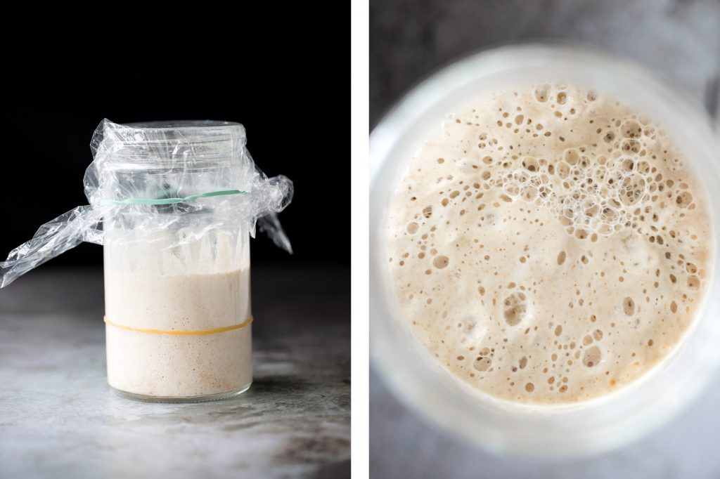 Learn how to make sourdough starter from scratch and make your own yeast at home with a few simple ingredients to bake sourdough bread + more yeast recipes. | aheadofthyme.com