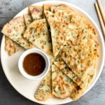 Savoury Chive Pancakes with Sourdough Starter