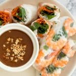 Vietnamese Salad Rolls with Peanut Dipping Sauce