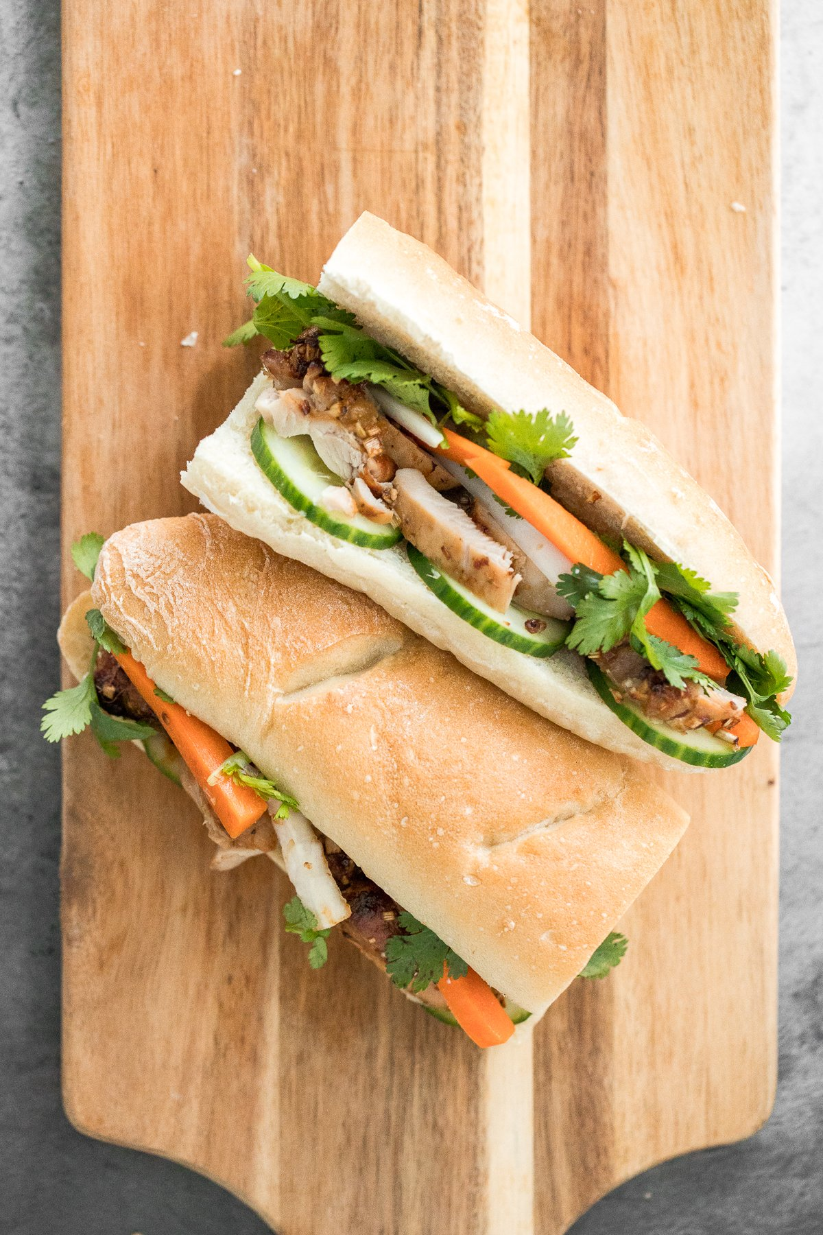 Lemongrass Chicken Banh Mi Sandwich Ahead Of Thyme