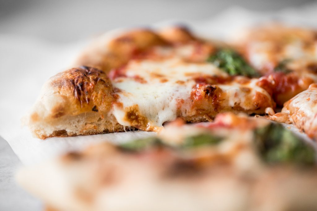 Use excess sourdough starter discard to make the best, easiest homemade small batch sourdough pizza dough to make an airy and chewy sourdough pizza crust. | aheadofthyme.com