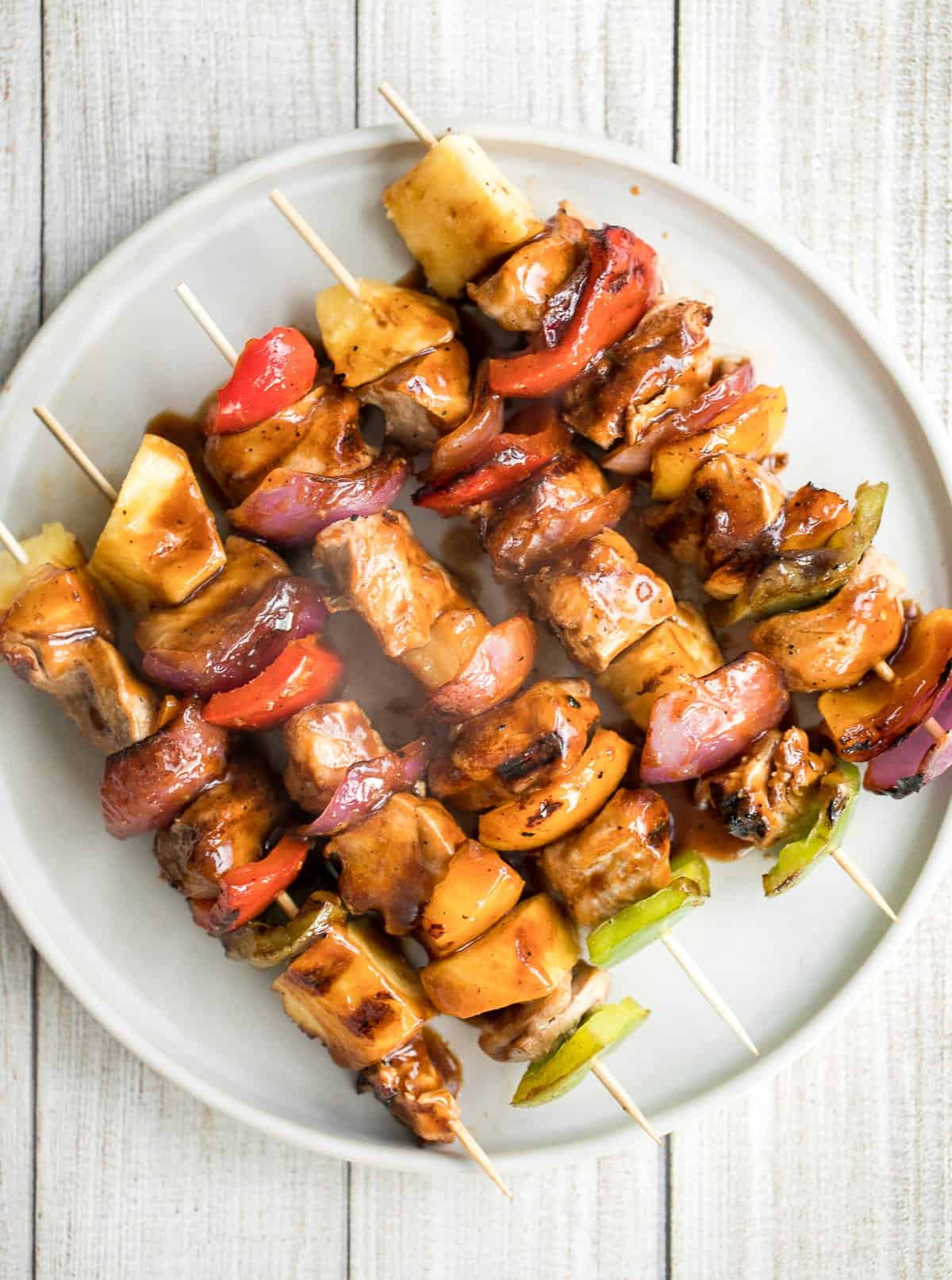 Teriyaki Chicken Skewers With Pineapple Ahead Of Thyme