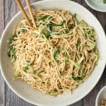 Cold Noodles with Peanut Butter Sauce