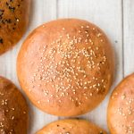 Soft and fluffy, artisan, easy homemade hamburger buns topped with sesame seeds are light, airy, so flavourful and take just 15 minutes of actual prep work. | aheadofthyme.com