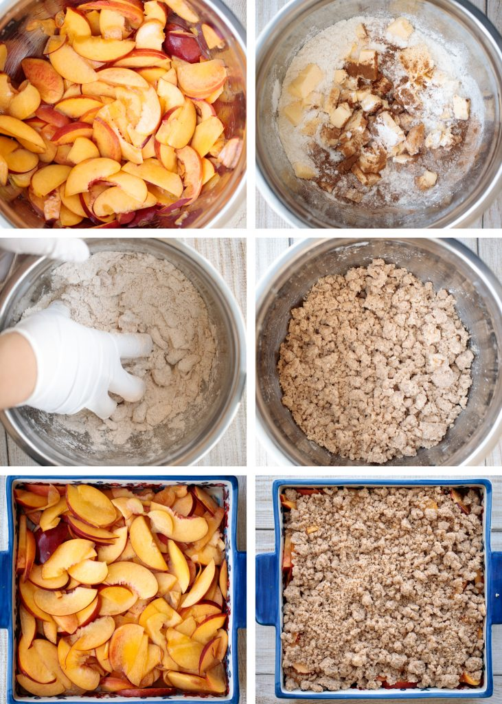 Easy peach cobbler is packed with sweet and juicy fresh peaches and topped with a buttery, golden topping. Make it with just 15-minutes of actual prep work. | aheadofthyme.com