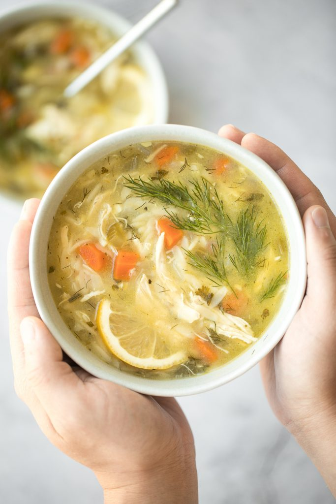 Smooth, hearty and light, one pot lemon chicken orzo soup is pure comfort in a bowl. This family favourite is like chicken noodle soup with a major upgrade. | aheadofthyme.com
