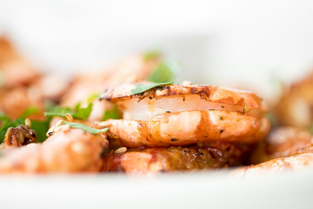 10-minute air fryer jumbo shrimp is juicy and tender on the inside, and crispy on the outside. It's so flavourful and garlicky with Asian seasonings.   aheadofthyme.com