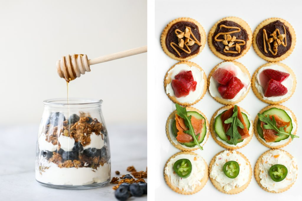 Browse the top 25 back to school lunch and snack ideas from granola bars, muffins, sandwiches, baked bites, fruits, dip and more kid-friendly recipes. | aheadofthyme.com