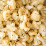 Quick and easy roasted cauliflower is a delicious, flavourful side dish that you throw on a sheet pan and into the oven. Plus, it's vegan and gluten-free. | aheadofthyme.com