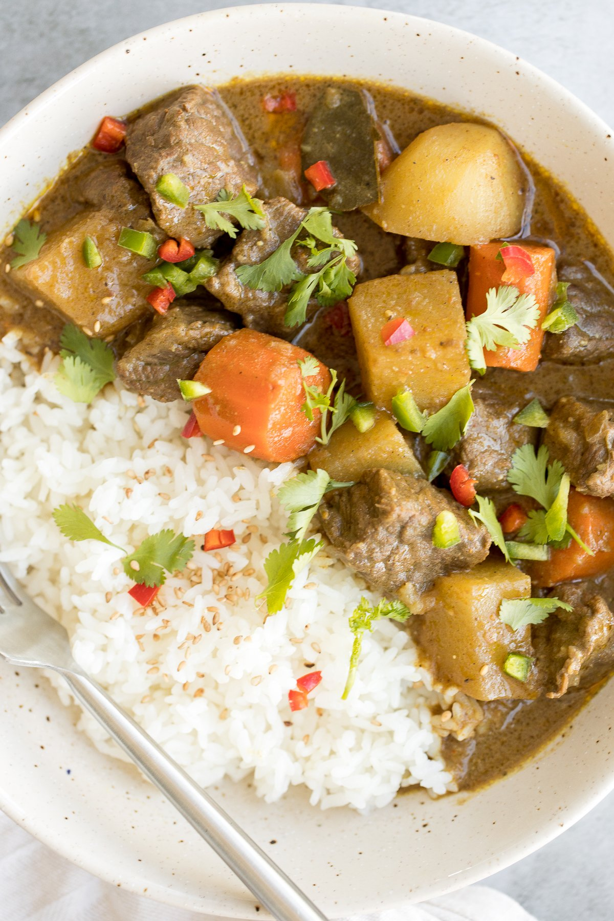One Pot Coconut Curry Beef Stew Ahead Of Thyme