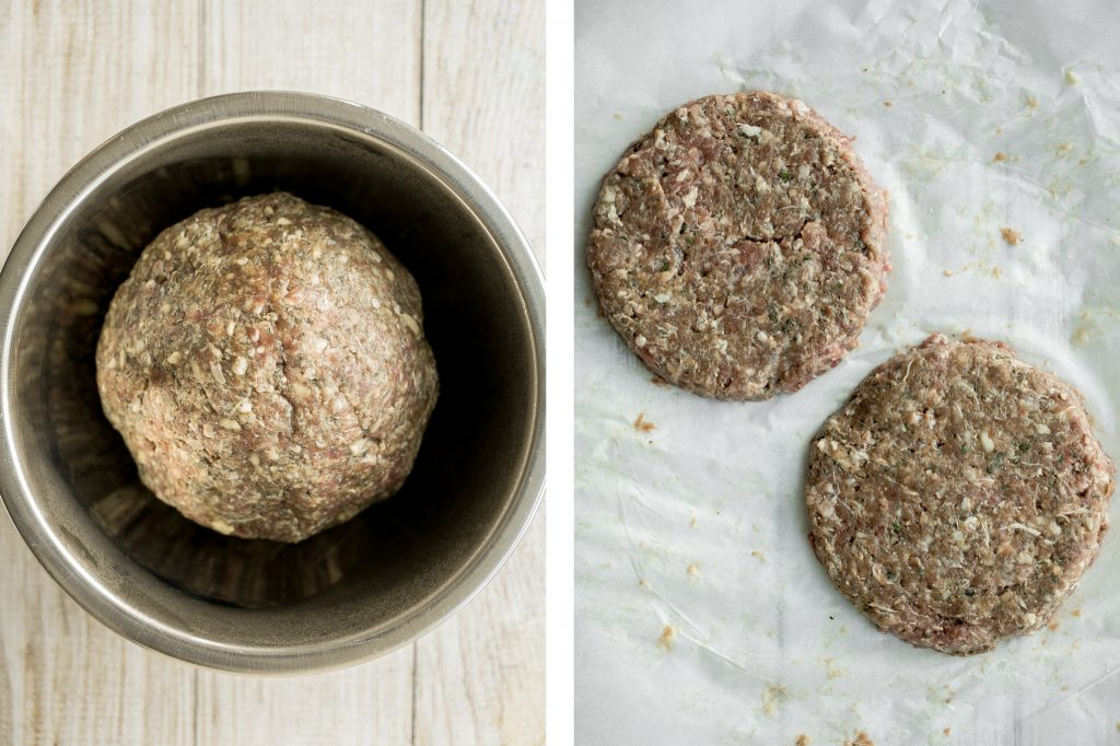 Super juicy and flavourful rosemary thyme quarter pound burgers made with fresh herbs add such an incredible depth of flavour. Just 10 minutes of prep work. | aheadofthyme.com
