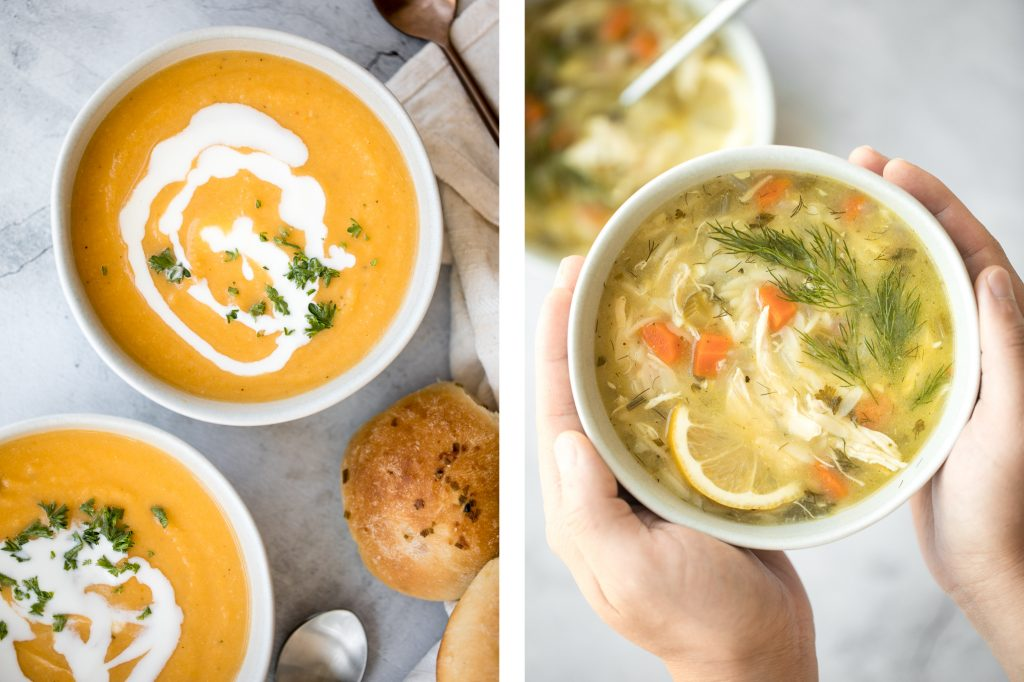 Browse the top 25 warm and cozy fall soup recipes from smooth and creamy to hearty and meaty to noodle soup and more, with lots of vegan and GF options. | aheadofthyme.com
