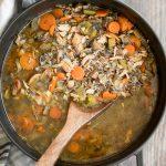 Leftover Turkey Wild Rice Soup