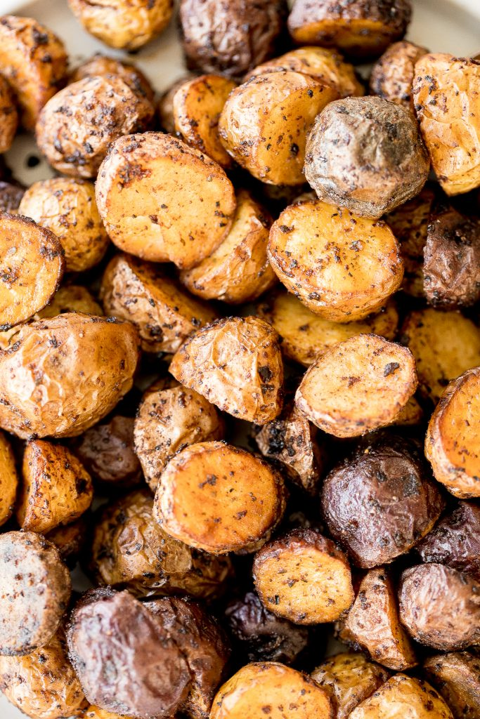 Crispy and tender, easy air fryer baby potatoes are a healthier take on a classic side dish without compromising taste or texture. Cooks in just 20 minutes. | aheadofthyme.com