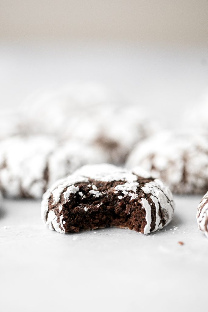 Soft tender chewy chocolate crinkle cookies are a classic Christmas cookie that tastes like a rich fudgy brownie with a crackly crust and coated in sugar. | aheadofthyme.com