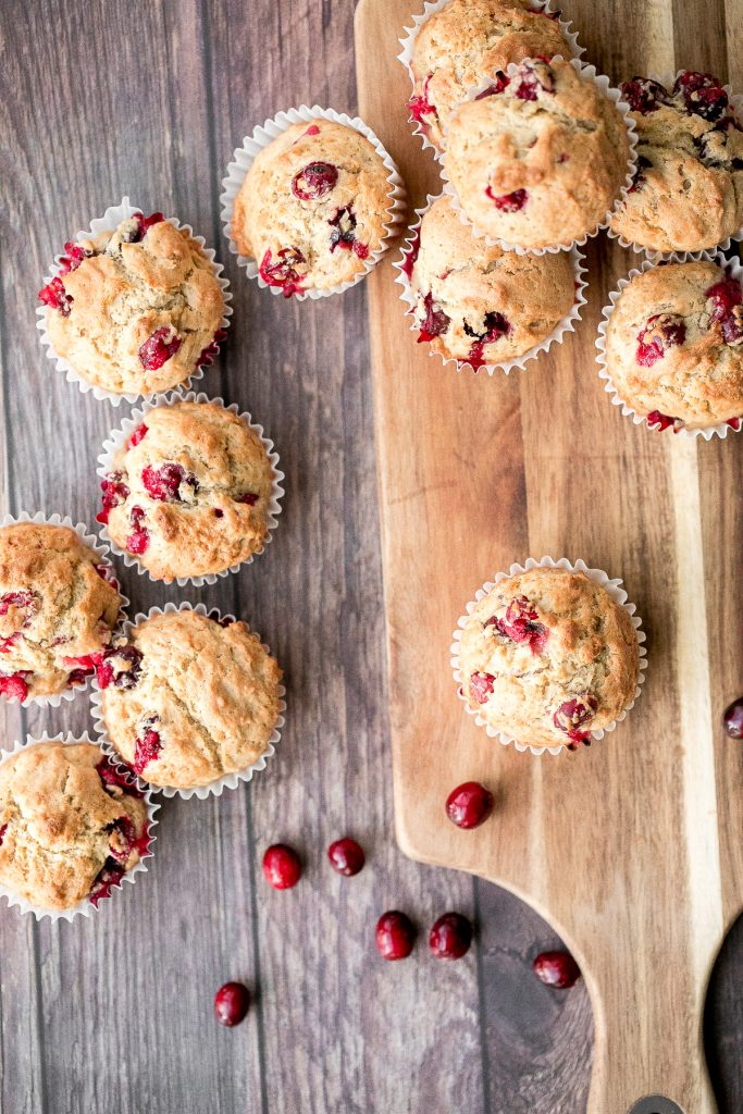 Buttery, soft and moist, cranberry yogurt muffins are packed with tarty and sweet cranberries in every single bite. Great for breakfast, snack or dessert. | aheadofthyme.com
