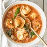 Creamy Tortellini Soup with Sausage