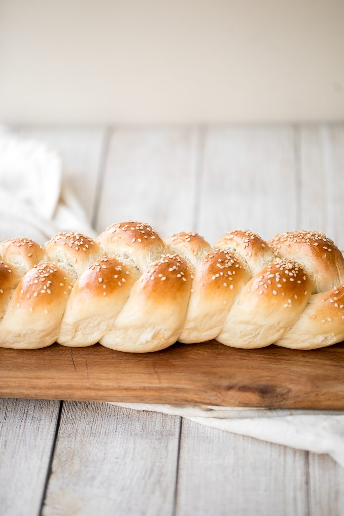 Beautiful three-strand braided loaves of easy challah bread are light, soft and fluffy, with a golden brown crust. Rich in flavour and slightly sweet.   aheadofthyme.com