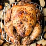Greek Lemon Garlic Whole Roast Chicken