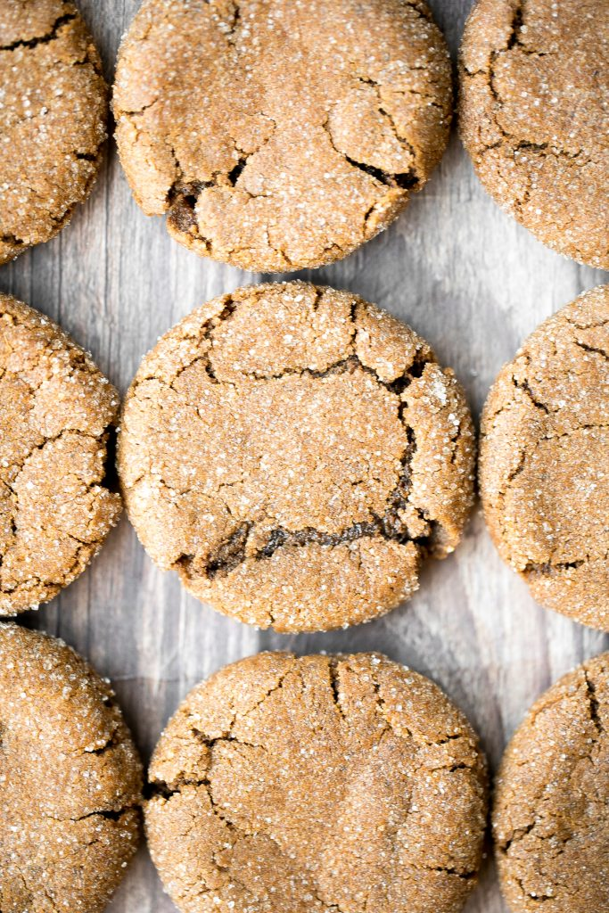Soft chewy ginger cookies packed with ginger, molasses, and cinnamon spice is the most warm and cozy cookie ever. These holiday cookies stay soft for days. | aheadofthyme.com