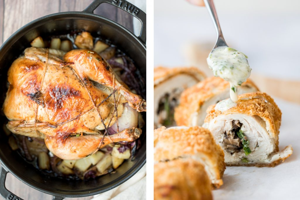 The 25 best Christmas mains and entrees for a festive holiday dinner including classic baked ham, roast turkey, whole chicken, rack of lamb, and more. | aheadofthyme.com