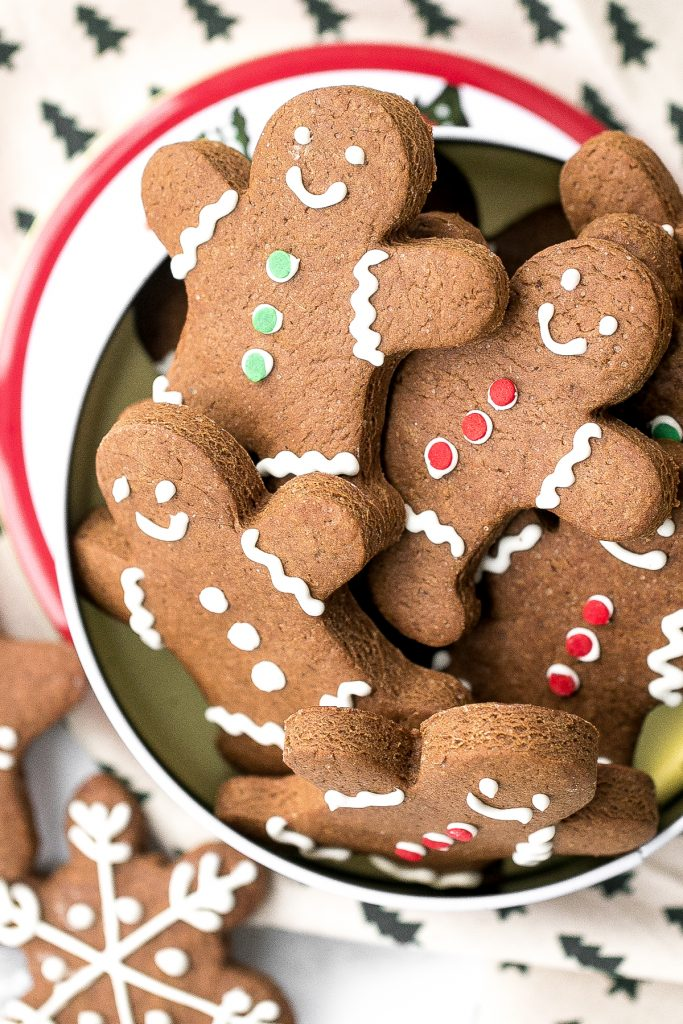 Classic gingerbread cookies with royal icing are soft and chewy in the centre but crisp on the edges. Add these festive cookies to your holiday baking list. | aheadofthyme.com